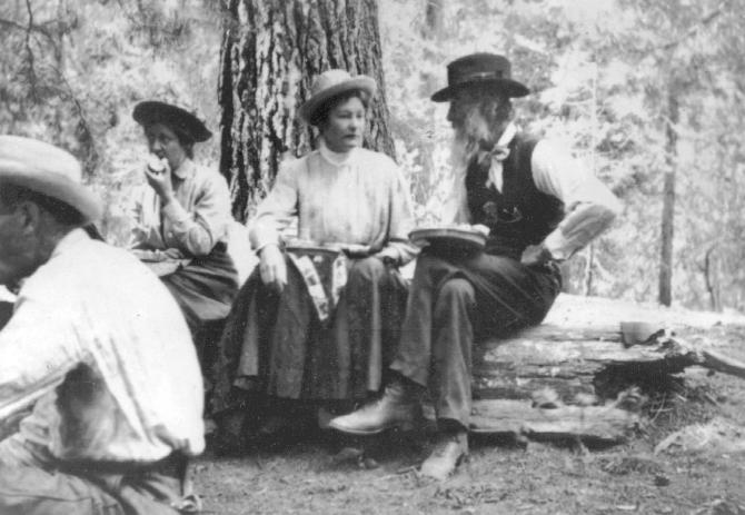 colby_17_muir_eating_with_ladies_at_kern_river_photo